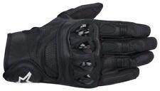 Gants noires tout cuir pour motocyclette