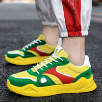 Mens Lace Up Sport Outdoor Running Fashion Sneakers Breathable Shoes New Muk15
