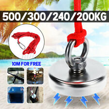 200KG D60mm Super Strong Neodymium Magnet 304 Steel Sea Fishing Tool + 10M Rope