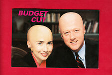 "President Bill Clinton & Hillary ""Budget Cut"" 1990's American Postcard Co. TRUMP"