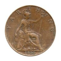 KM# 808 - One Farthing - Freeman 599 (2+A) - George V - Great Britain 1920 (F)