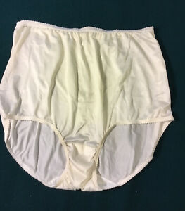 Underscore Candle-glo Nylon Full Cut Brief Panties Size 8