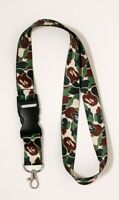 Camo Hypebeast Supreme Streetwear  Custom Print Fashion Lanyard Keychain Ring