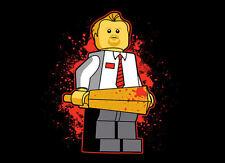 "Womens T-Shirt - LEGO ""Shaun of the Dead"" US Womens L - Black"