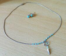 DREAMCATCHER argent turquoise navajo Collier & Boucles D'oreilles