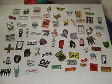 HUGE 68 pcs ROCK MUSIC Sticker Lot / Decal Bumper Stickers Actual Pattern NEW