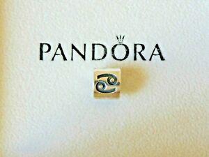 PANDORA RETIRED Genuine Authentic S/Silver Cancer Zodiac Charm bead Item 79147