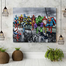 1PC Super Hero Oil Painting Home Decor Canvas Print Art Frameless Picture Mural