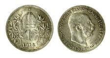 pcc1840_81)  Franz Joseph I 1 Korona 1915 AG Toned