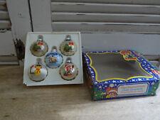 SUPERBE BOULES DE NOËL EN VERRE FIGURINE PUMUCKL1984 / 1985  .. figurine pumuckl