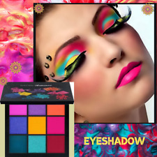 New EYESHADOW 9 VIBRANTS COLOURS MINERAL PIGMENTS natural for DARK & Matte SKINS