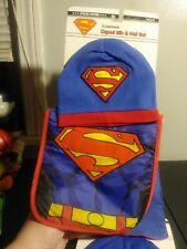 Superman Infant Baby Bib, Hat & Cape Set - NEW