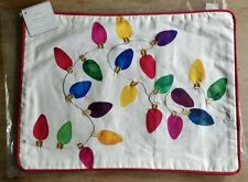POTTERY BARN Christmas Lights Pillow Cover NEW Tags 12 X 16 Holiday Retired