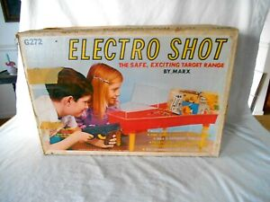 1969 MARX ELECTRO SHOT TARGET RANGE BOX - BOX & CARDBOARD INSERT ONLY