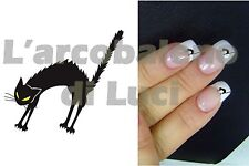 20 AUTOCOLLANTS ONGLES CHAT EN COLèRE dècoration ANGRY CAT NAIL ART STICKERS