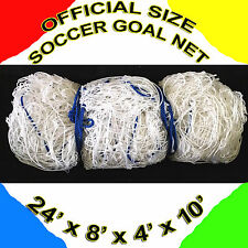 WHITE IN COLOR ONE OFFICIAL SIZE SOCCER GOAL NET NETTING Orono Sports