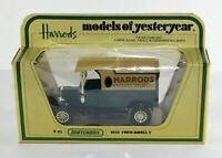 MATCHBOX  MODELS OF YESTERYEAR Y-12 FORD 'T' 1912 HARRODS LIVERY Diecast Van