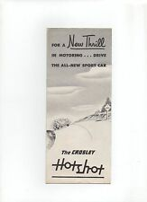 1949 CROSLEY Hotshot SPORT AUTO illustrativo