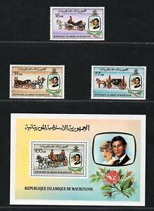 Mauritania, año 1981, serie completa en nuevo **, Michel-N° 726-729  (Bloque 32)