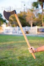 "Hand Forged Large 31"" Danish Battle Axe English Long Axe Hardwood Handle"