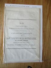 Cadastre abrégé Seigneurie De la Bouteillerie #Rivière Ouelle #81 Casgrain 1863