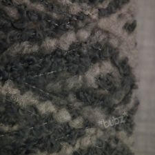 SOFT WOOL BLEND BOUCLE YARN BIG 1,000g CONE BLUE GRADIENT POODLE DOUBLE KNITTING