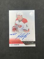 2015-16 SP AUTHENTIC NOAH HANIFIN ROOKIE FUTURE WATCH AUTO INSCRIBED #ed 39/999
