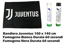 BANDIERA GIGANTE JUVE JUVENTUS cm 100 x 140 + Fumogeno Bianco + Fumogeno Nero