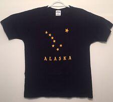 vtg Vintage Alaska State Flag Stars Navy T Shirt Big Dipper Polaris Large