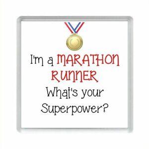 I'm a MARATHON RUNNER What's Your Superpower? Acrylic Fridge Magnet