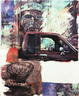 ROBERT RAUSCHENBERG AMERICAN INDIAN SIGNED ORIGINAL PIGMENT ON PAPER HAND SIGNED