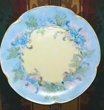 J&C Louise Bavaria Antique Plate - Shades of Blue & Pink Flowers-EUC