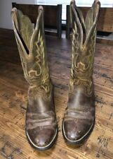 Ariat Women's Size 7 B Heritage Brown Leather Western Cowboy Boots Pre-Owned