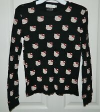 VICTORIA KIDS COUTURE girls Black HELLO KITTY Long Sleeve TOP* 14