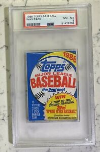 1986 Topps Baseball Wax Pack - PSA 8