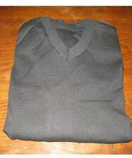 ALEXANDRA BLACK V NECK JUMPER PN58 50% WOOL BN size L