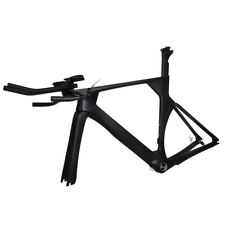 50cm BSA Carbon TimeTrial TT Triathlon Bike Frame Fork Seatpost Headset UD Matt