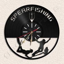 Spearfishing Wall Clock Vinyl Record Clock
