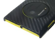 Hard Cover Case Nokia Lumia 1020 Black Carbon Fiber Pattern + Screen Protector