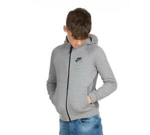 Junior Nike Sportswear Air Full Zip Grey Hooded Top (NAH1) RRP £39.99