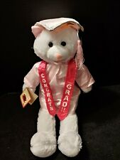 "Chantilly Lane 19"" Cute Pink Graduation Cat Friends Forever Singing Swaying Nwt"
