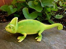 Chameleon Lizard Iguana 10 in.Garden Home Decor Aztec Mexico Green Pond Statue