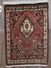 Antique Persian Bijar Wool Prayer Small Rug