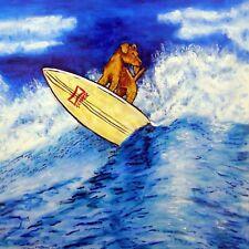 Airedale Terrier - ceramic coaster tile - gift for surfer - modern dog art