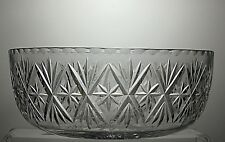 EDINBURGH CRYSTAL CUT GLASS FRUIT AND SALAD BOWL- SIGNED