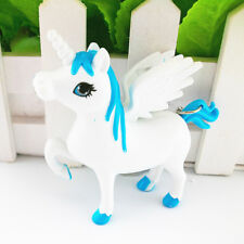 1PC Blue Unicorn Sound LED Light Torch Keyring Key Chain Kids Toy Party Gift