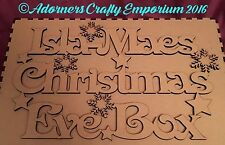 Personalised Mdf Wood Wooden Christmas Eve Box Topper Only 28 X 18cm