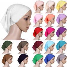 Muslim Womens Islamic Solid Hijab Head Scarf Bone Bonnet Hair Loss Cap Chemo Hat