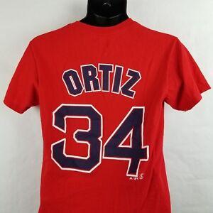 David Ortiz Jersey Shirt Small Majestic Red Boston Red Sox Big Papi #34