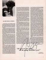 HARRY CHAPIN SIGNED 1978 LIVING ROOM SUITE TOUR CONCERT PROGRAM BOOK / EX 2 NMT